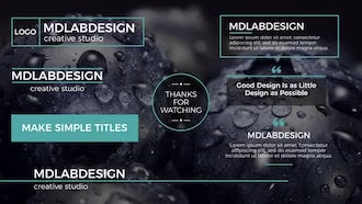 Inspiration Titles: After Effects Templates