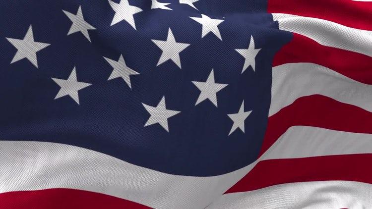 USA Flag Close Up: Stock Motion Graphics