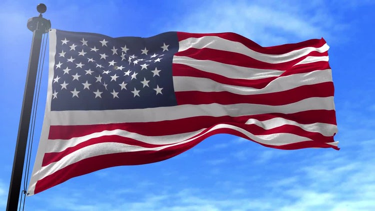 American Flag Animation: Stock Motion Graphics