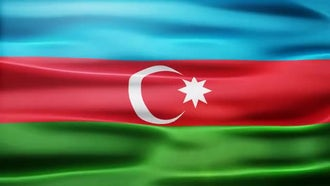 Azerbaijan Flag: Motion Graphics
