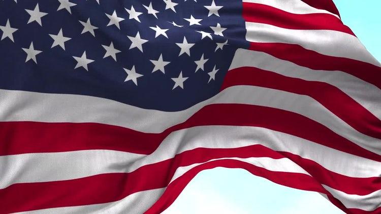 USA Flag Animation: Stock Motion Graphics