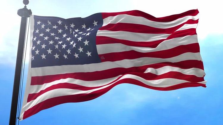 USA Flag Animation: Motion Graphics