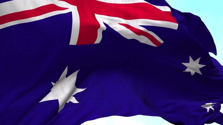 Australian Flag Animation: Stock Motion Graphics
