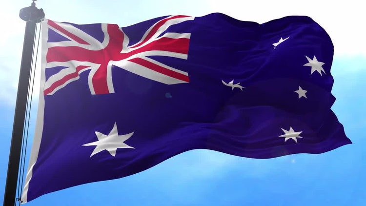Australian Flag Animation: Motion Graphics