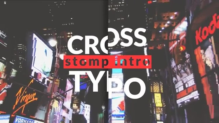 Cross Typo Stomp Intro: After Effects Templates