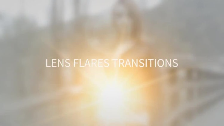 Lens Flares Transitions: Motion Graphics