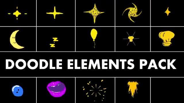 Doodle Elements Pack: Stock Motion Graphics