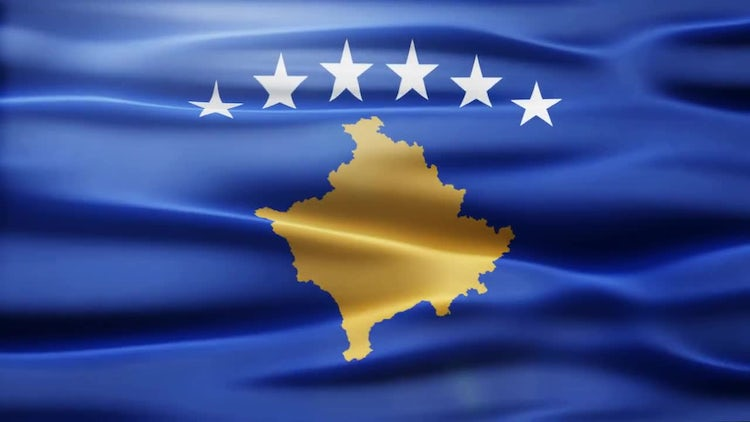 Kosovo Flag: Stock Motion Graphics