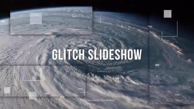 Glitch Parallax Slideshow: After Effects Templates