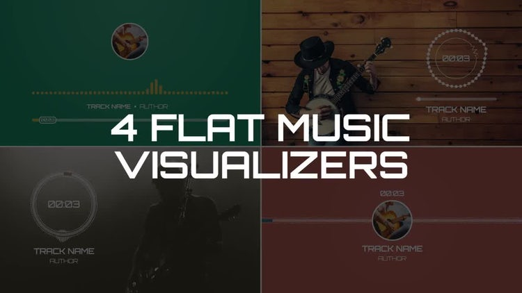 Flat Music Visualizers: After Effects Templates