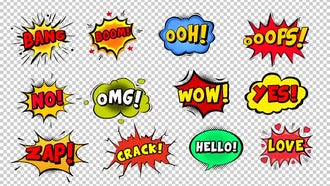 Comic Bubbles: Motion Graphics