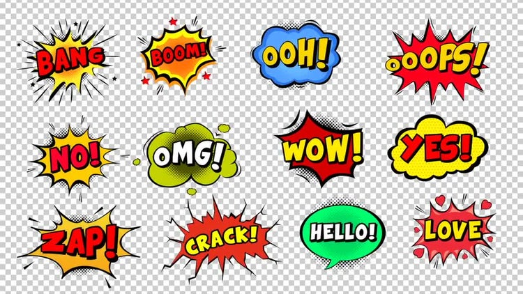 Comic Bubbles: Stock Motion Graphics