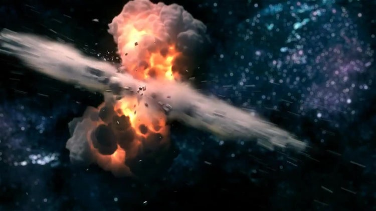 Space Explosion: Motion Graphics