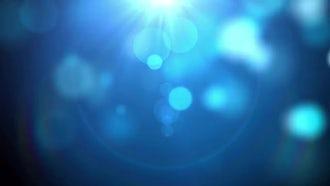Blue Particle Rain: Motion Graphics