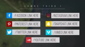 Minimal Social Media Lower Thirds: After Effects Templates