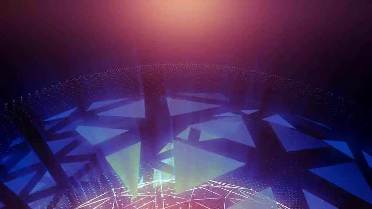 Abstract Geometric Background: Motion Graphics