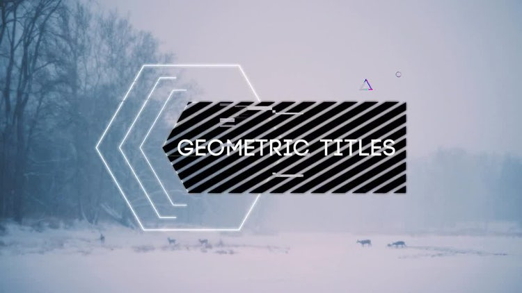 Se7en Glitch Titles 2: After Effects Templates