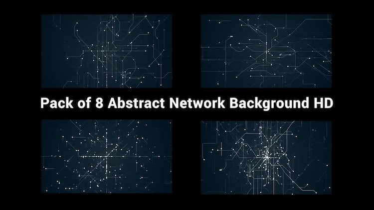 Abstract Network Background Pack : Stock Motion Graphics