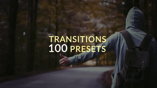 100 Presets Transitions: After Effects Presets