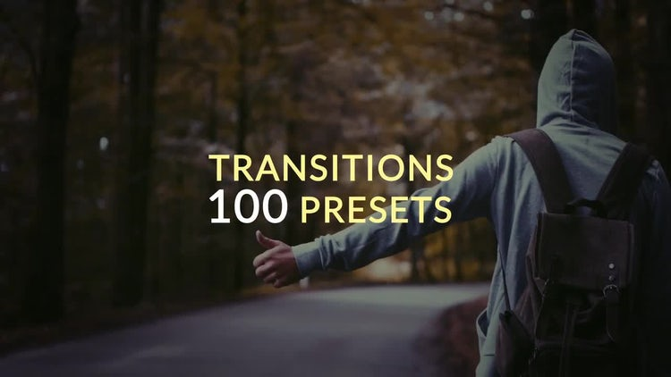 100 Presets Transitions: After Effects Templates