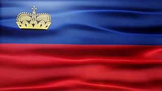 Liechtenstein Flag: Motion Graphics
