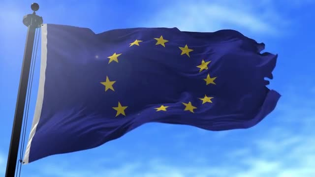 Europe Union Flag: Stock Motion Graphics