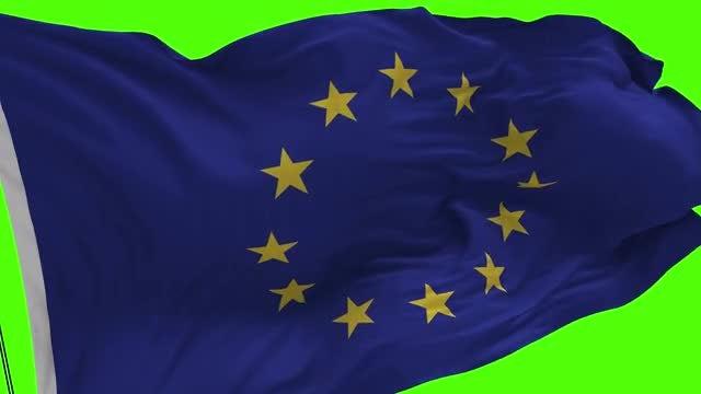 Europe Union Flag: Stock Motion Graphics