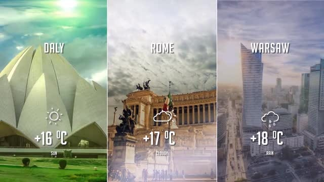 Weather forecast: After Effects Templates