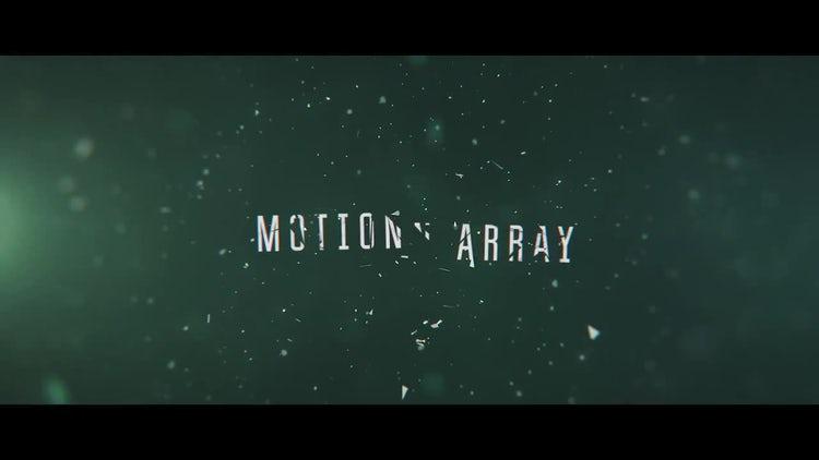 Cinematic Shatter Trailer: Premiere Pro Templates