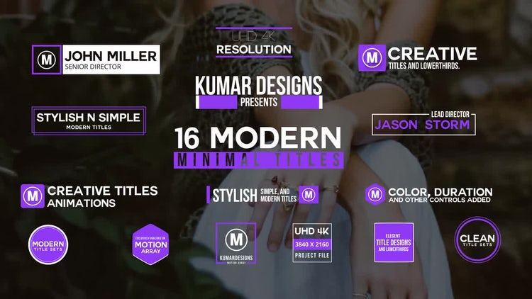 16 Modern Titles: After Effects Templates