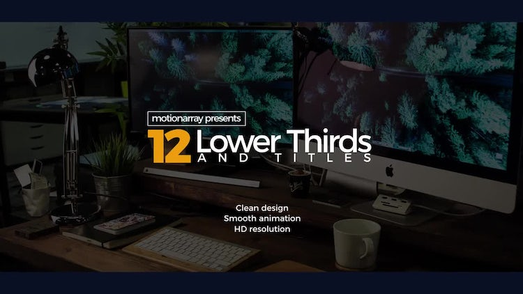 12 Lower Thirds & Titles: After Effects Templates