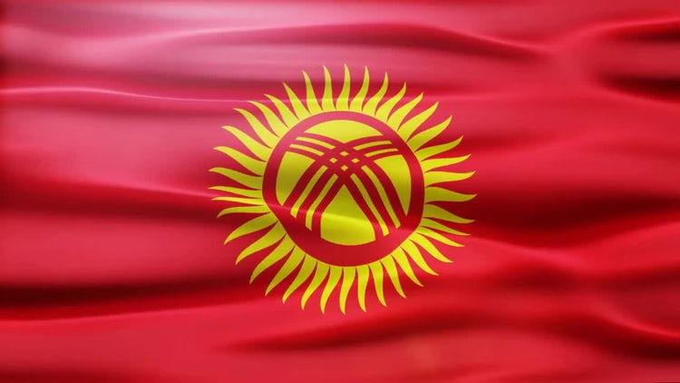 Kyrgystan Flag: Stock Motion Graphics