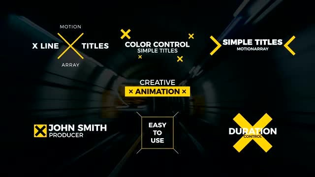 X Line Titles: After Effects Templates