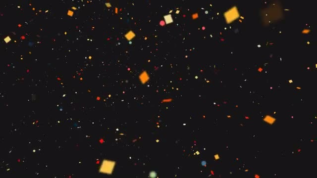 Confetti Background: Stock Motion Graphics