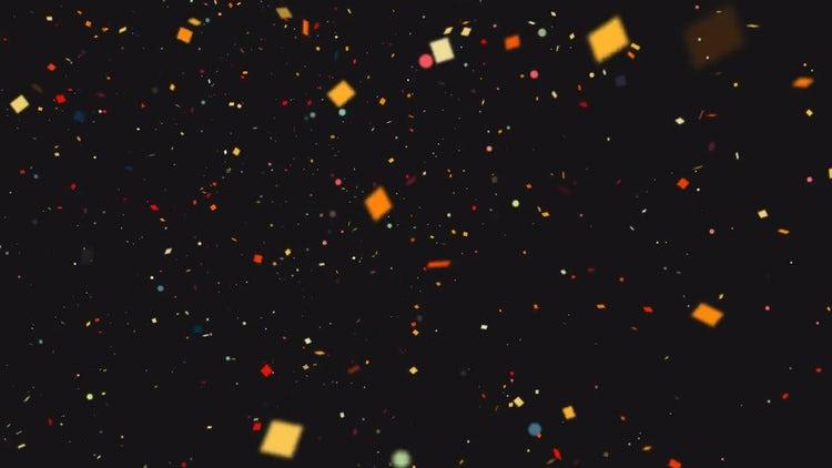 Confetti Background: Stock Motion Graphics