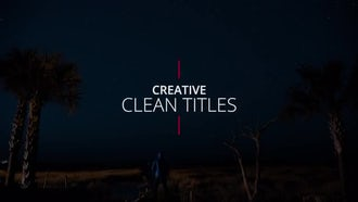 Creative Clean Titles: Premiere Pro Templates