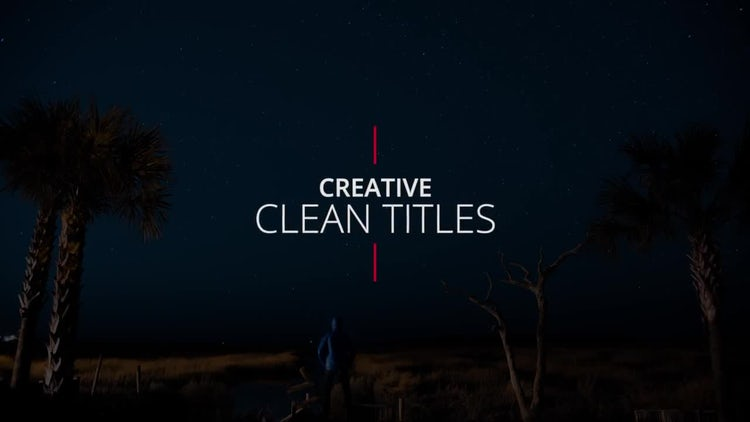 Creative Clean Titles: Premiere Pro Templates