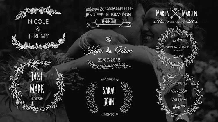 Wedding Day Titles: After Effects Templates