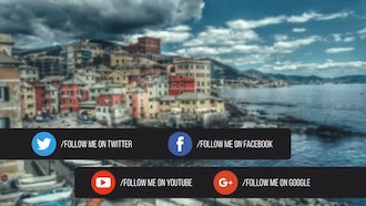Business & Social Contact Information: After Effects Templates