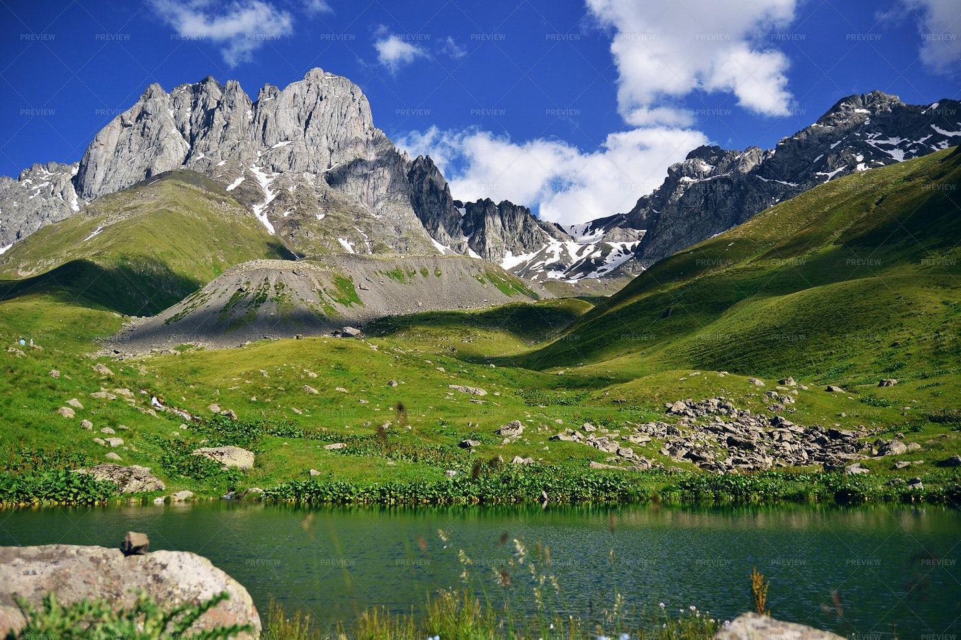 River Through Juta's  Mountains: Stock Photos