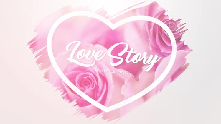 Slideshow - Brush Effects - Love Story: After Effects Templates