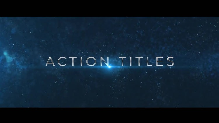Action Trailer Titles: After Effects Templates