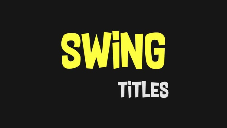 Funny Swing Titles: Premiere Pro Templates