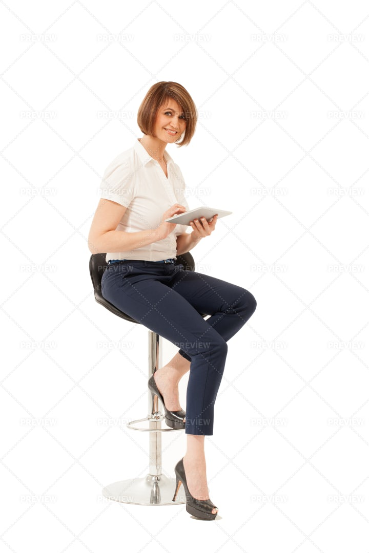 Woman On Her Tablet: Stock Photos