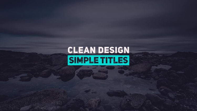 Fresh Minimal Titles: After Effects Templates