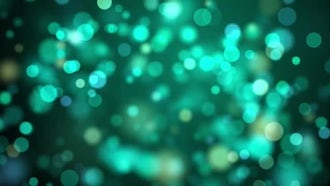 Spinning Green Particles: Motion Graphics