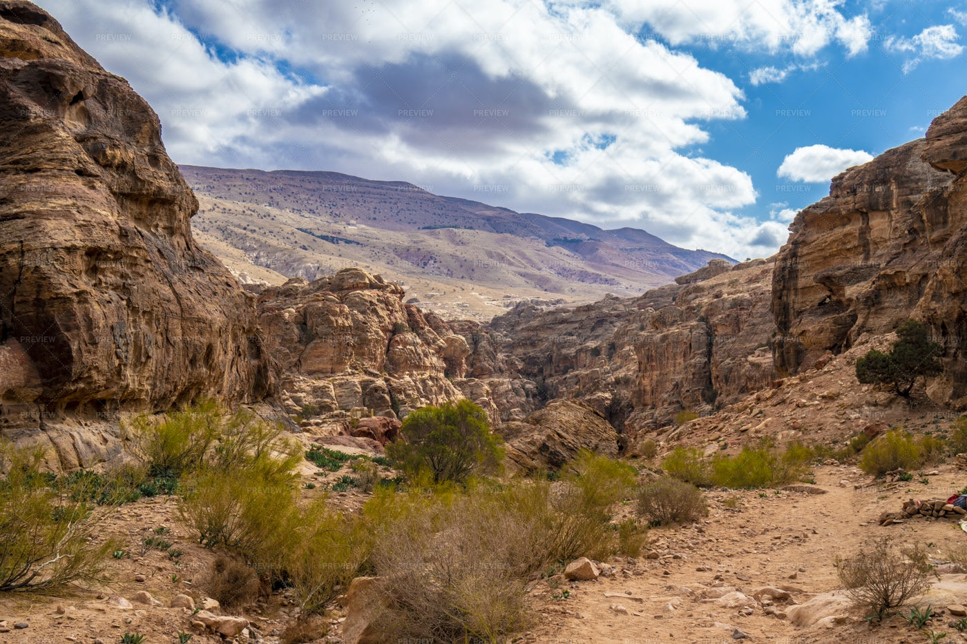 Typical Rocks In Petra, Jordan: Stock Photos