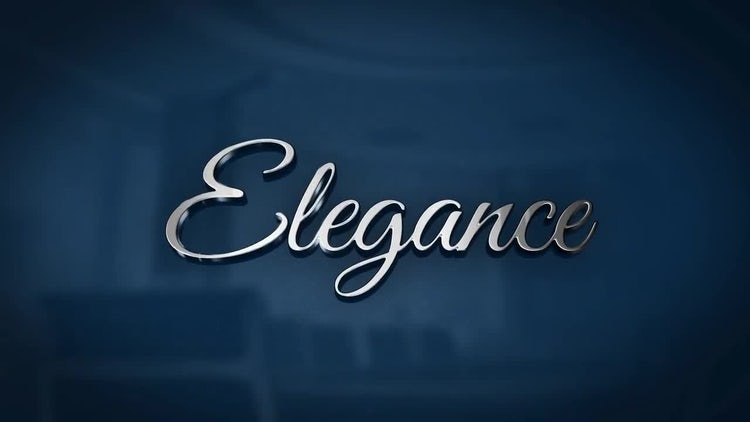 Elegance - Reflective 3D Logo: After Effects Templates