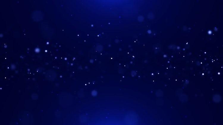 Blue Particles 4K: Motion Graphics