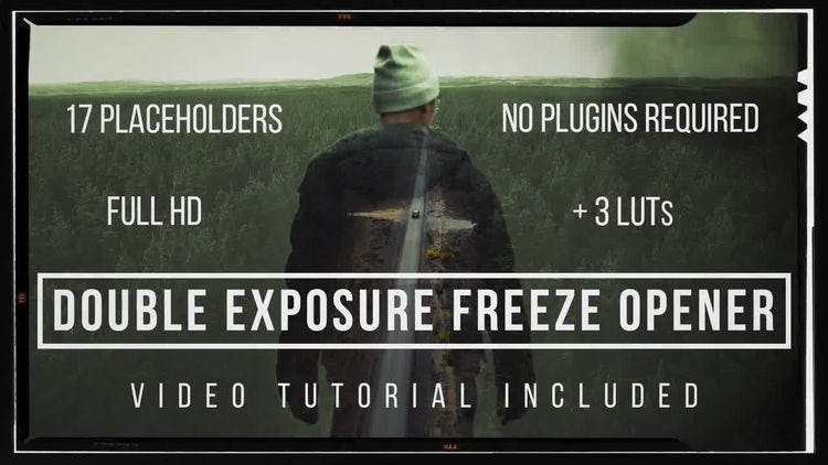 Double Exposure Freeze Opener: After Effects Templates
